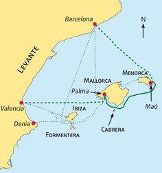Valencia to Barcelona by Ferry (via Mallorca and Menorca)