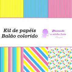 Montando a minha festa Imagens: Papéis Balão colorido