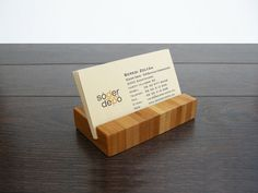 Elegant, simple and natural are the marks of this Bamboo Business Card holder. Perfect solution to keep your desk organized and clean. The card