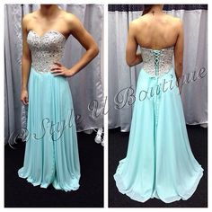 New Homecoming Gown just in at Style U Boutique!