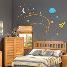 Love this for space nursery theme, and not too expensive!