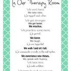 From The Organizing OT (TPT): Our Therapy Room Poster (8.5x11). Free. Pinned by Pediatric Therapy services, Inc. Check out our blog at pediatrictherapeuticservices.wordpress.com