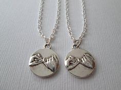 2 Pinky Pomise Best Friends Necklaces by HazelSarai on Etsy