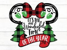 It's the most wonderful time of the year Inspired by Mickey Mouse svg Minnie Mouse Svg Disney svg Bu Christmas decorations Disney Christmas Decorations, Disney Christmas Shirts, Mickey Mouse Christmas, Disney Shirts, Disney Outfits, Merry Christmas, Christmas Holidays, Christmas Christmas, Xmas