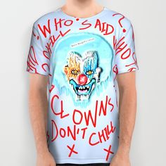 Unique Clown Art created by Fashion Designer and Pop Artist Bwilly Bwightt for the Bwilly Bwightt's Circus TM clothing and home decor line.