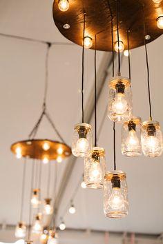 Mason jar lights - Riverland Studios via Fab You Bliss