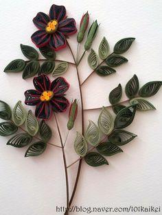 paper quilling - rose http://blog.naver.com/101kaikei/140202555480