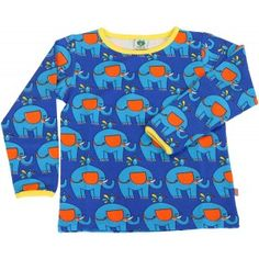 Smafolk shirt Elephants blue