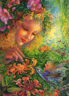 painting by Josephine Wall, british fantasy artist. Josephine Wall, Fantasy Paintings, Fantasy Art, Psy Art, Visionary Art, Fairy Art, Mother Earth, Amazing Art, Cool Art