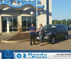 https://flic.kr/p/MHrUab | Happy Anniversary to Lynda on your #Honda #CR-V from Jon Robinson at Orr Honda of Paris! | deliverymaxx.com/DealerReviews.aspx?DealerCode=G978