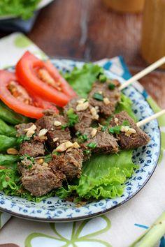 Lemongrass Beef Skewers Recipe | http://rasamalaysia.com -- #MalaysiaMustSee