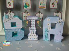 Letras em 3D Frozen Congelante para Bia by Oliver Festas Infantis