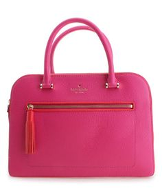 Look what I found on #zulily! Sweetheart Pink Chester Street Kalen Leather Tote #zulilyfinds