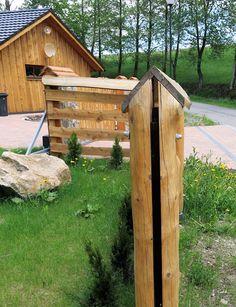 Stříška na sloupek plotu