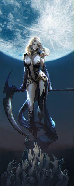 Sorceress, In Ho Choi(bellial) on ArtStation at https://www.artstation.com/artwork/lrY3e