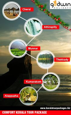 Comfort Kerala Tour Package This season enjoy exclusive back water tour packages and welcome new year 2015 in Kerala.