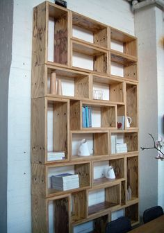 I should get daddy to build me something like this in easy to move sections to stand up against a wall in my dorm/apartment for storage!! | best stuff