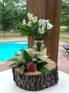 Love using these logs for centerpieces!