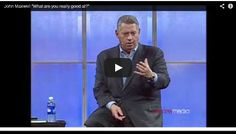 "In this short video, John Maxwell encourages us to ask two questions of ourselves: 1) ""What am I passionate about"" and 2) ""What am I good at?"". If we stop doing the things we don't do very well and instead focus on the things we do well, we will find that we are more freed"