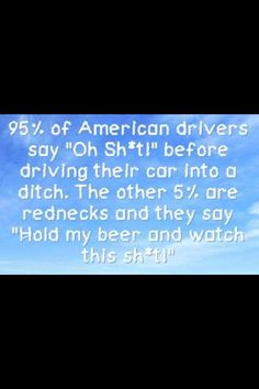 So true!  Part of that 5% is from my town!