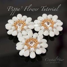 *P Pippa Flower Tutorial by Crystalstargems on Etsy