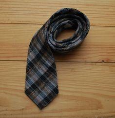 plaid wool tie by LostPropertyVintage, £10.00