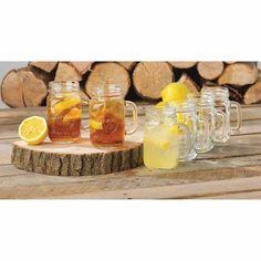 Libbey Handled Drinking Jar 8-Piece Set, Glass - Walmart.com