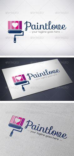 Paint Love Logo  #GraphicRiver         - Three