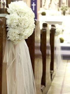 aisle marker?  without the tulle