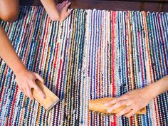 Rag Rugs, Recycled Fabric, My Memory, Woven Rug, Finland, Color Inspiration, Sweet Home, Weaving, Carpet