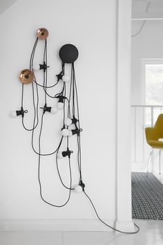 Muuto dots & house doctor black lace lights