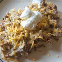 Hamburger Potato Casserole-made this the last night. It was pretty good. I think next time I'll use hash browns instead of cutting up potato. Easy make!