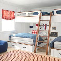 Think Big - 20 Fun, Beachy Bunk Rooms - Coastal Living