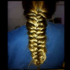 Pulled apart fishtail #brown #brunette #long #hair