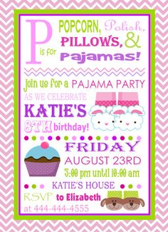 free printable girls slumber party invitations  google search, party invitations