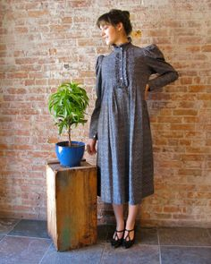 Vintage 1970's 1980s Laura Ashley Prairie by stateandmainvintage,