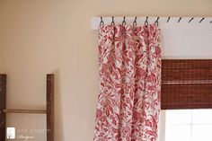 Inspired by Charm forged nail curtain rod via Remodelaholic