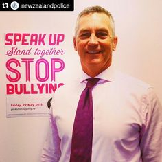 """@japan_pinkshirtday's photo: """"#Repost @newzealandpolice ・・・ Today, our staff throughout the country are wearing pink to speak out against bullying. Our Commissioner Mike Bush is getting involved too. @pinkshirtdaynz #pinkshirtdaynz"""""""