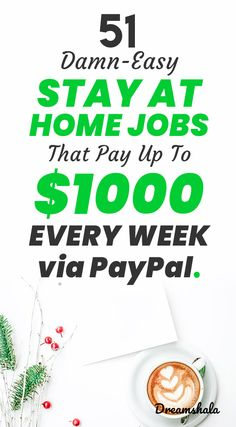 51 damn-easy stay at home jobs that Cash From Home, Earn Money From Home, Stay At Home, Make Money Online, Work From Home Companies, Work From Home Opportunities, Legit Work From Home, Work From Home Jobs, Ways To Earn Money