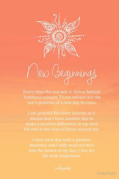 Reflection on new beginnings. #mindfulness #gatherconversations