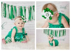 St Patricks Day Baby Girl ClothesGreen Lace Petti by LillyBowPeep, $29.95
