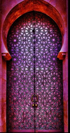 Casablanca, no Marrocos. Mesquita Hassan Fotografia: Tarik El Barq no Cool Doors, Unique Doors, The Doors, Windows And Doors, Front Doors, Grand Entrance, Entrance Doors, Doorway, Portal