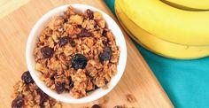 Banana, Walnut, and Cranberry Granola  http://greatist.com/eat/recipes/banana-walnut-and-cranberry-granola