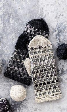 Lapaset jämälangasta / Miitens from coarse yarn Knitted Mittens Pattern, Knit Mittens, Knitted Gloves, Knitting Socks, Knitting Patterns Free, Free Knitting, Wool Socks, Knit Crochet, Crochet Hats