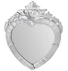 JC Venetian Heart Mirror - VMH39HC from SHINE MIRRORS AUSTRALIA