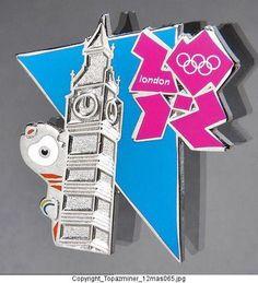 BADGE PIN OLYMPIC 2012 LONDON ENGLAND UK  MASCOT WENLOCK  WITH BIG BEN CLOCK  | eBay