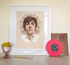 SYD BARRETT Portrait Poster Print - Rachillustrates