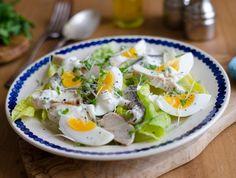 Csirkés saláta főtt tojással Recept képpel - Mindmegette.hu - Receptek