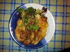Hähnchenbrust mit Salat
