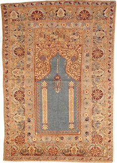 Turkish prayer rug Turkey late 19th century size approximately 3ft. 10in. x 5ft. 6in.